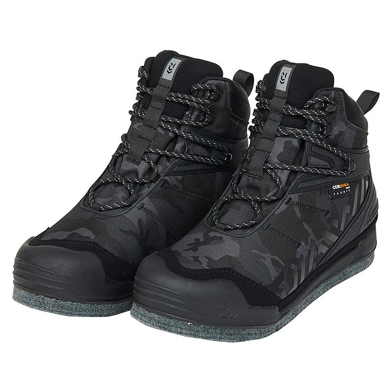 フィッシングシューズ 毎週更新 ブーツ ダイワ Daiwa 海外輸入 DS-2650CD ダイワフィッシングシューズ 25.0cm スパイクフェルト ブラックカモ 08606891