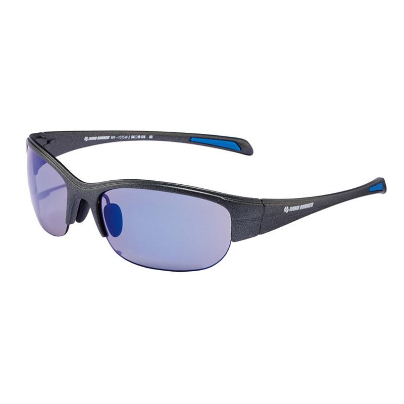 偏光グラス メーカー在庫限り品 メガネの愛眼 WIND RUNNER ガンメタル WR-101SW-2 ブルーミラーライトスモーク ※ラッピング ※