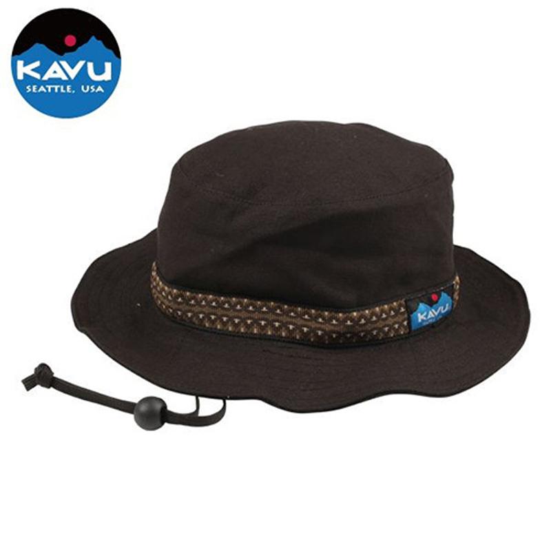 KAVU(カブー) Strap Bucket Hat(ストラップ バケット ハット) S Black 11863452001004