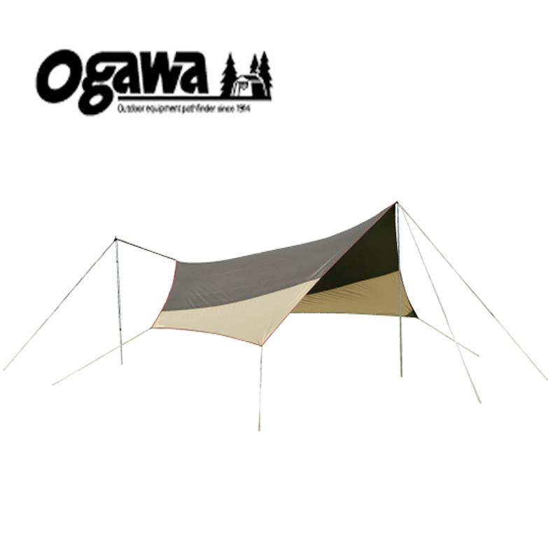 ogawa(小川キャンパル) システムタープヘキサDX ブラウン×サンド×レッド 3331
