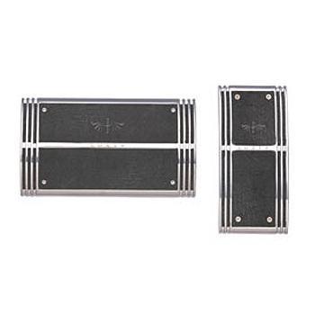 RAZO LUXIS ペダルセットTYPE1 AT-M クローム/ブラック LS202