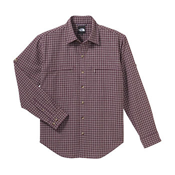 THE NORTH FACE(ザ・ノースフェイス) NT26725 Regular Collar Shirt L SR(シラーズレッド) NT26725