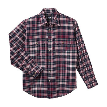 THE NORTH FACE(ザ・ノースフェイス) NT26728 L/S Basic Shirt M NC(TNFネイビー×カージナルレッド) NT26728