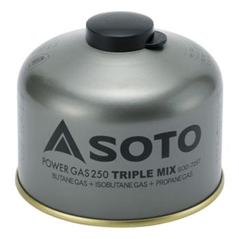 [ガス燃料] SOTO パワーガス250トリプルミックス SOD-725T