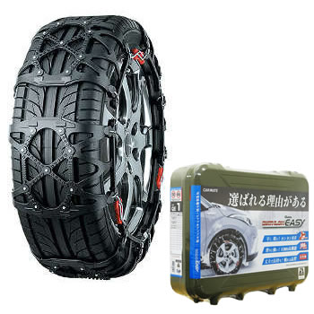 カーメイト(CAR MATE) 簡単取付 非金属 タイヤチェーン バイアスロン クイックイージー (QUICK EASY) QE7 ブラック QE7