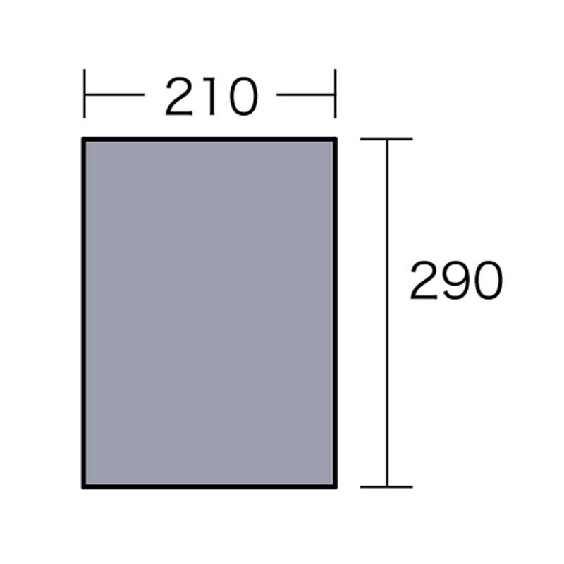 ogawa(小川キャンパル) PVCマルチシート 300×220用 シルバー 1403