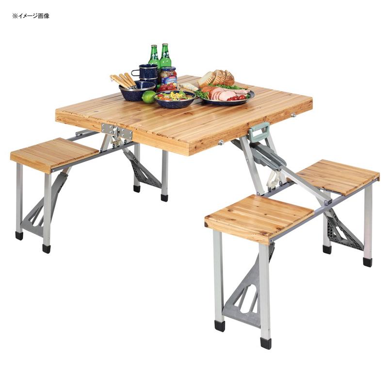 キャプテンスタッグ(CAPTAIN STAG) NEWシダー 杉製ピクニックテーブル ナチュラル UC-3