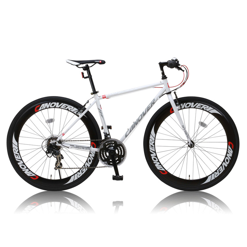 <title>完成車 ロードバイク 電動自転車 CANOVER カノーバー CAC-025 NYMPHニンフ 指定日不可 クレジットカードのみ 700C 日本限定 ホワイト 25599 個別送料品 大型便</title>