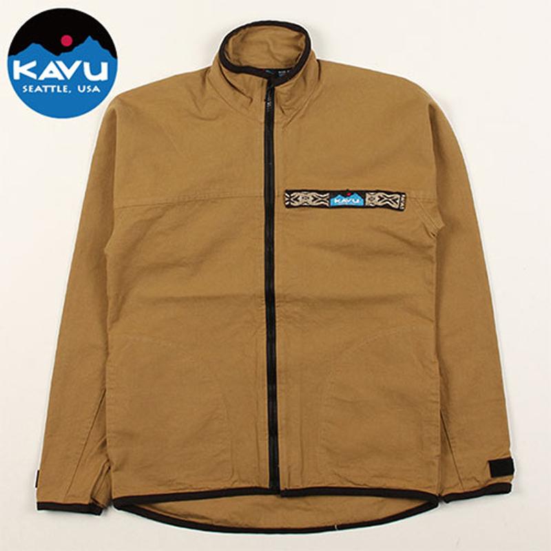 KAVU(カブー) F/Z Throw Shirts(フルジップ スローシャツ) L Khaki(カーキ) 19810052047007
