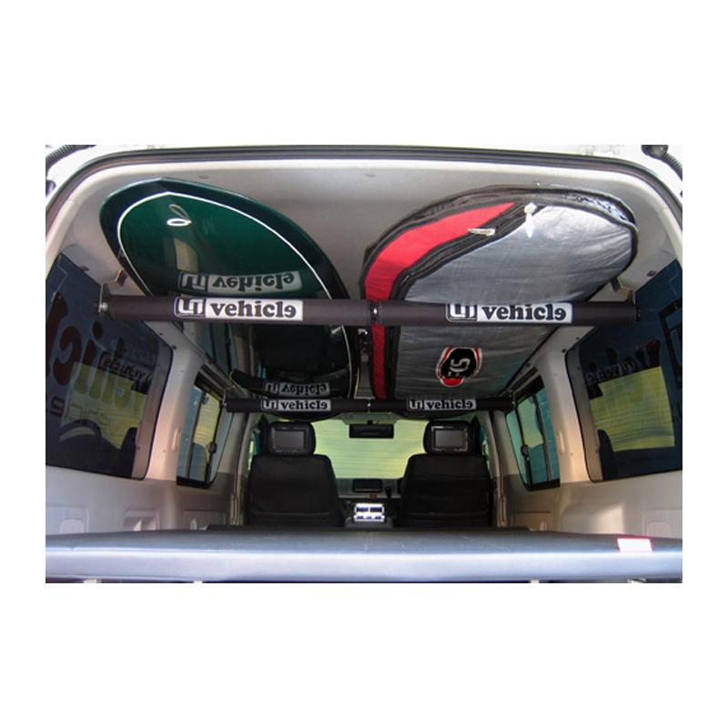 ユーアイビークル(UIvehicle) ハイエース200系 ルームキャリアキット【代引不可】 ワイドボディ用 黒チューブ JN-U036