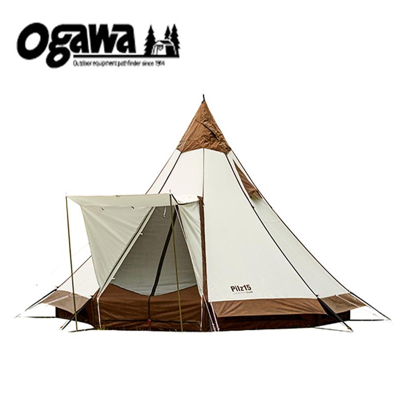 ogawa(小川キャンパル) ピルツ15T/C 8人用 オフホワイト×ブラウン 2790