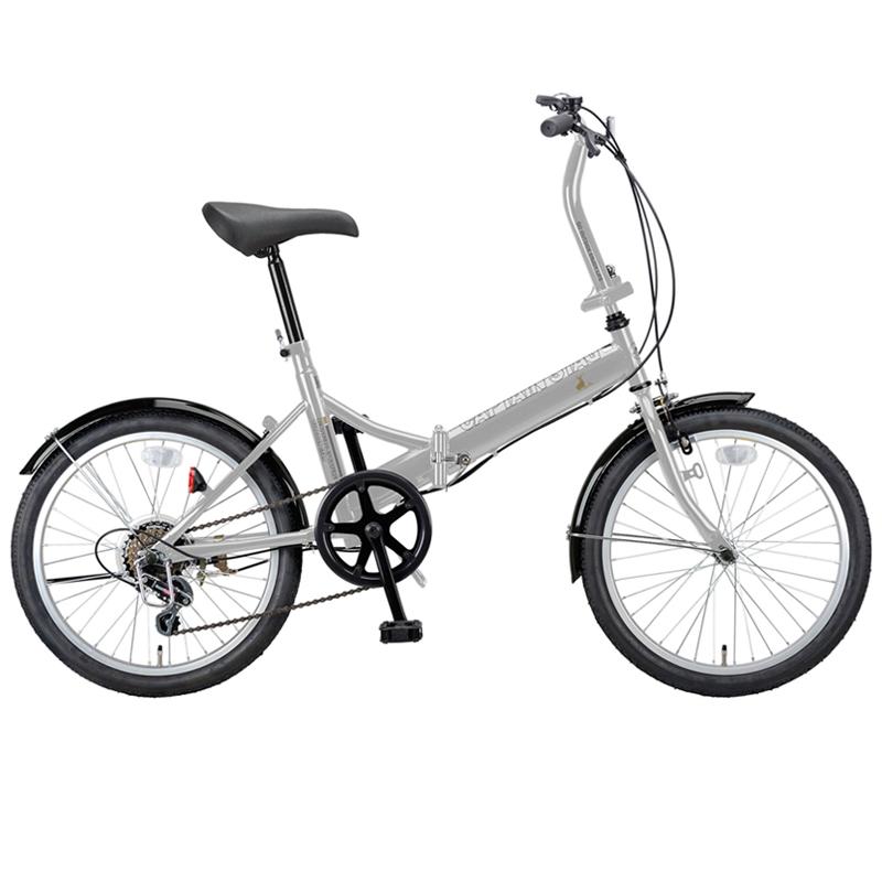 キャプテンスタッグ(CAPTAIN STAG) ライヤー FDB206 折り畳み自転車 20インチ 6段変速 軽量 20インチ シルバー YG-272 【大型商品】