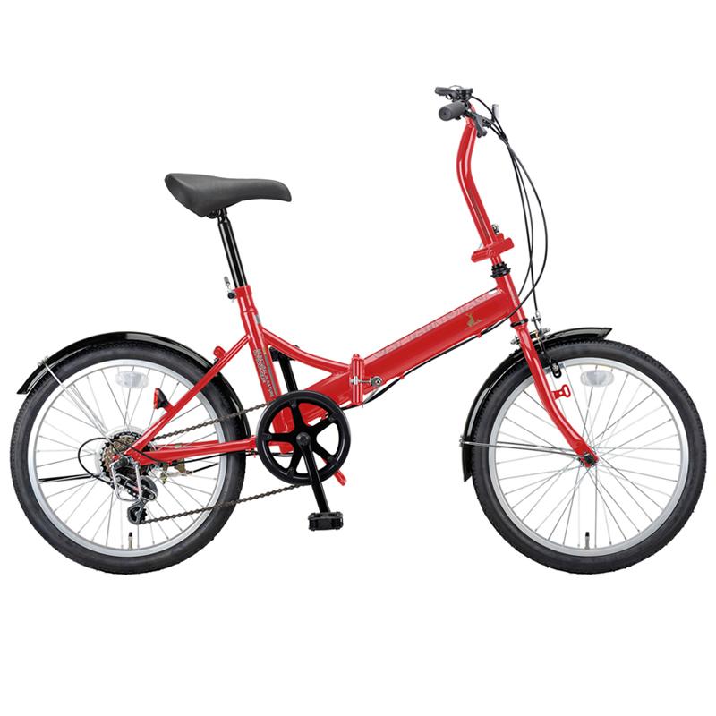 キャプテンスタッグ(CAPTAIN STAG) ライヤー FDB206 折り畳み自転車 20インチ 6段変速 軽量 20インチ レッド YG-275 【大型商品】