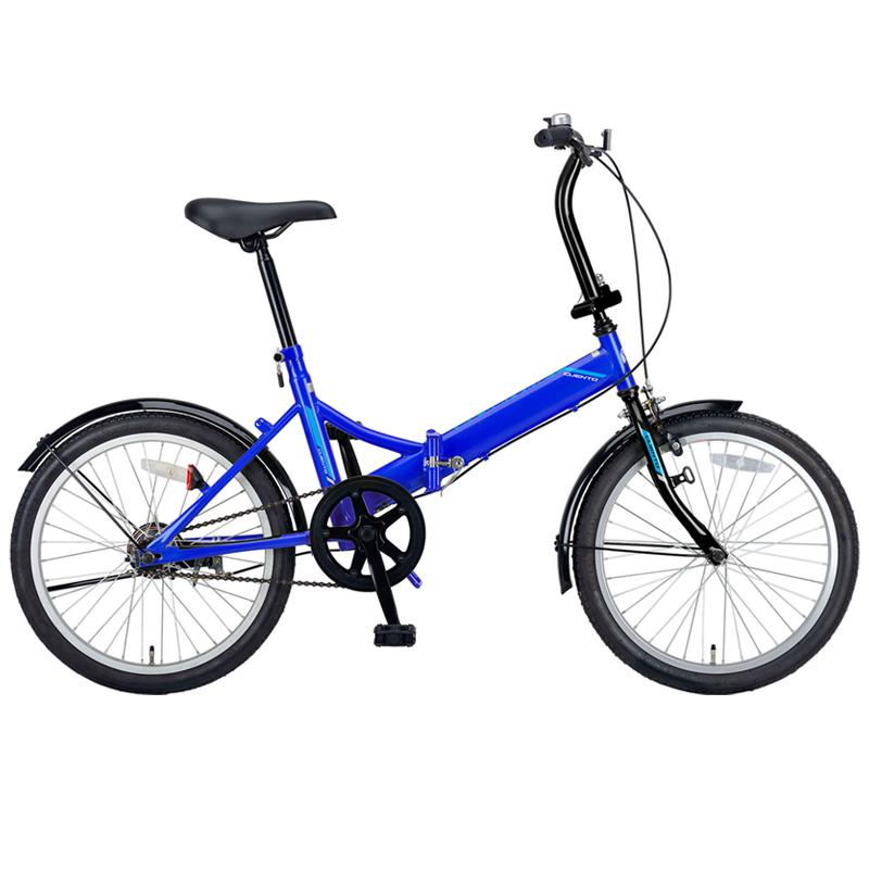 キャプテンスタッグ(CAPTAIN STAG) クエント FDB201 折り畳み自転車 20インチ 1段変速 軽量 20インチ ブルー YG-324 【大型商品】