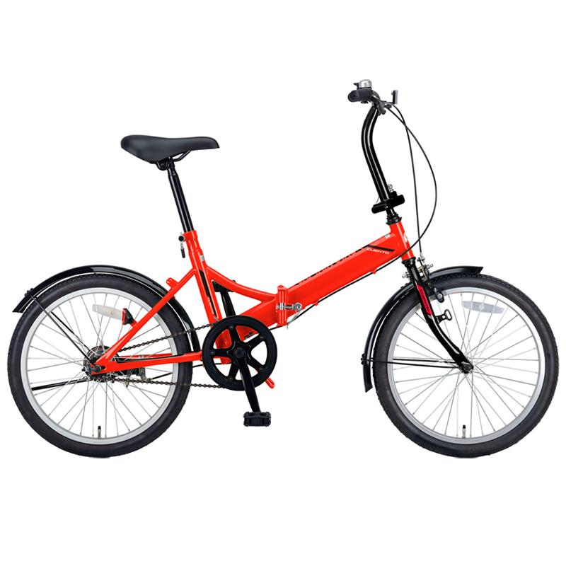 [折りたたみ自転車] キャプテンスタッグ(CAPTAIN STAG) クエント FDB201 折り畳み自転車 20インチ 1段変速 軽量 20インチ レッド YG-325 【大型商品】