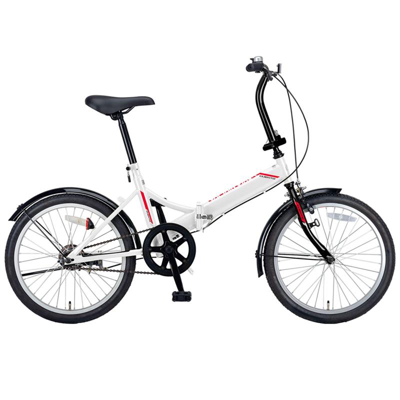 キャプテンスタッグ(CAPTAIN STAG) クエント FDB201 折り畳み自転車 20インチ 1段変速 軽量 20インチ ホワイト YG-327 【大型商品】