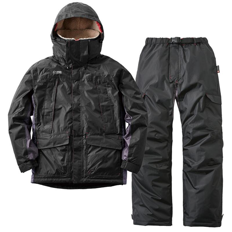 ロゴス(LOGOS) 動作快適防水防寒スーツ カーティス L ブラック 30342712
