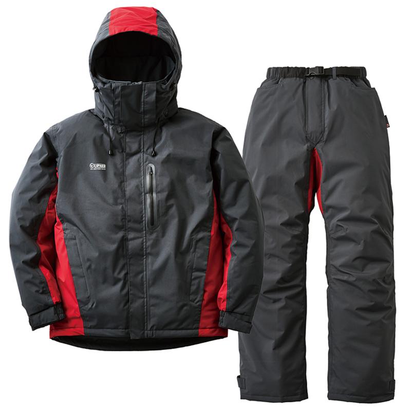 ロゴス(LOGOS) ストレッチ防水防寒スーツ リフェット LL チャコール 30344251