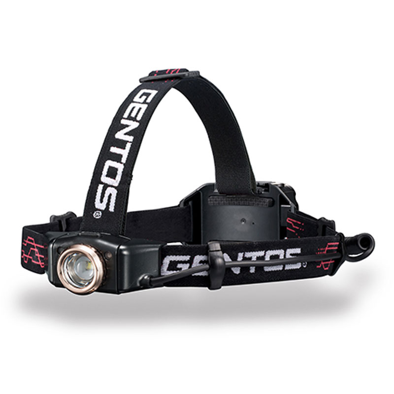 GENTOS(ジェントス) ヘッドライト GH-010RG 最大300ルーメン 充電式/単四乾電池兼用 010 GH-010RG