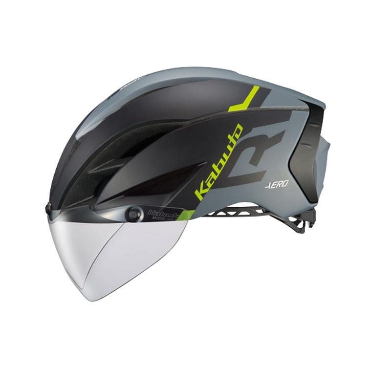 オージーケー カブト(OGK KABUTO) ヘルメット AERO-R1 (エアロ-R1) S/M G-1マットブラックグレー AERO-R1