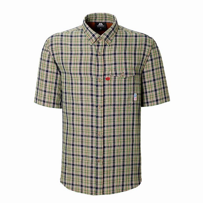 マウンテンイクイップメント(Mountain Equipment) SS Double Gauze Shirt (ダブルガーゼシャツ) XL グリーン 421831