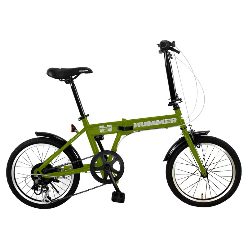 HUMMER(ハマー) 折りたたみ自転車 18インチ マットグリーン FDB186 IW-III 【大型商品】