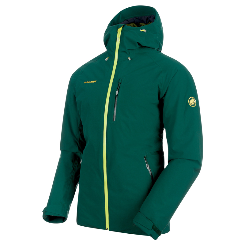 MAMMUT(マムート) Runbold HS Thermo Hooded Jacket Men's S dark teal×clover 1010-24830