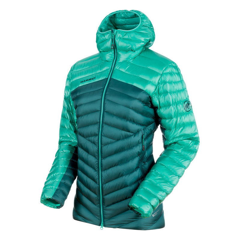 MAMMUT(マムート) Broad Peak IN Hooded Jacket Women's S teal×atoll 1013-00350