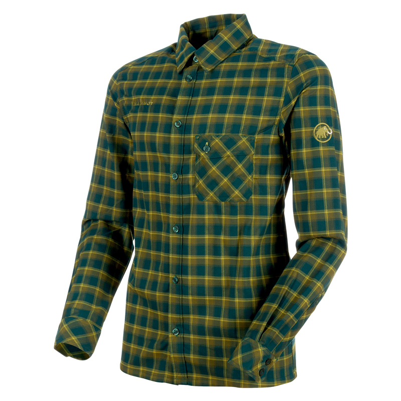 MAMMUT(マムート) Belluno Tour Longsleeve Shirt Men's XL dark teal×citron 1030-02600