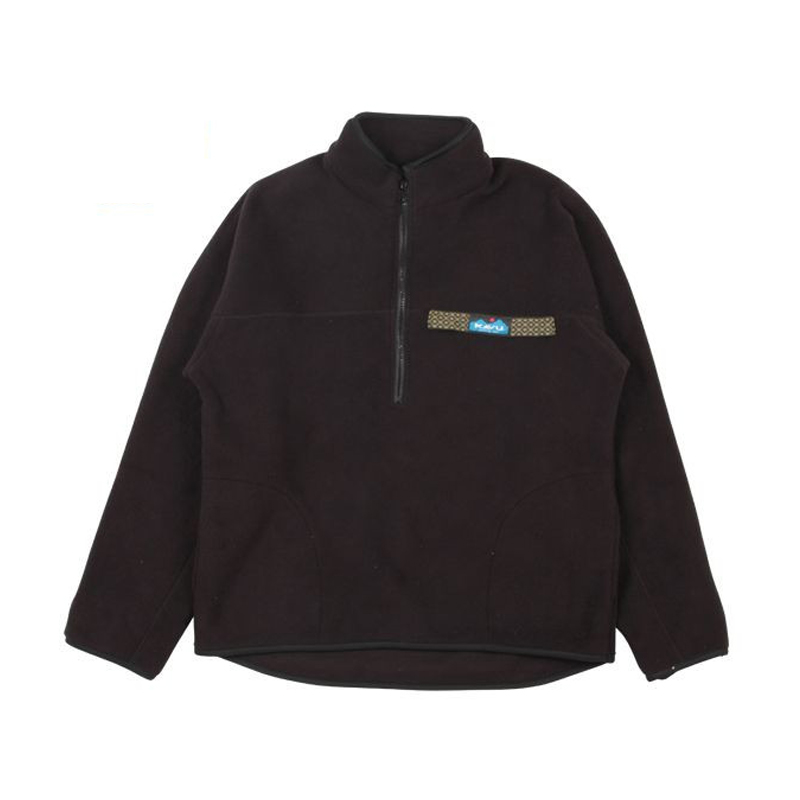 KAVU(カブー) Freece Throw shirts(フリース スロー シャツ) メンズ L Black 11863318020007