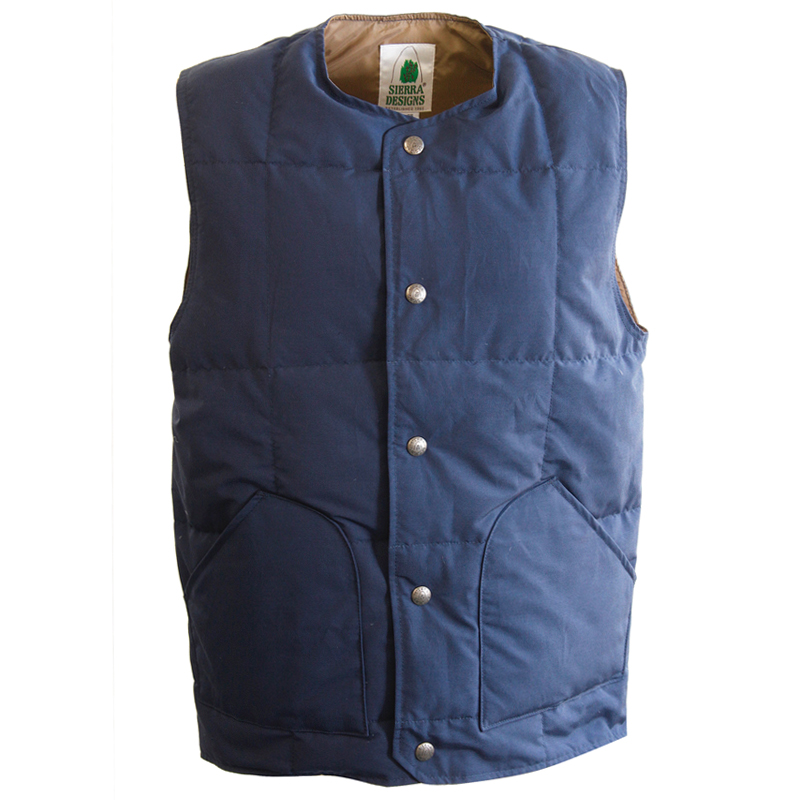 SIERRA DESIGNS(シエラデザインズ) CREW NECK DOWN VEST L Midnight 7986