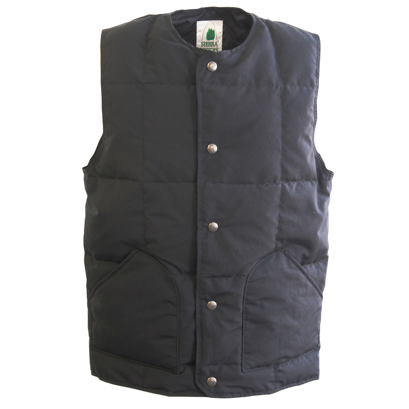 SIERRA DESIGNS(シエラデザインズ) CREW NECK DOWN VEST M Black 7986