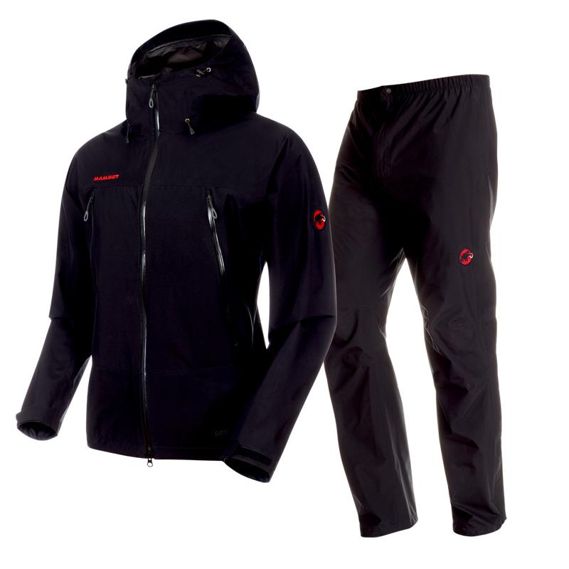 MAMMUT(マムート) CLIMATE Rain Suit AF Men's S 0052(black×black) 1010-26551
