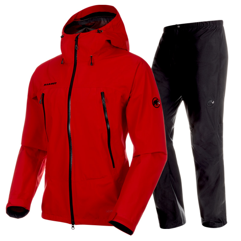 MAMMUT(マムート) CLIMATE Rain Suit AF Men's XS 3528(ruby×black) 1010-26551