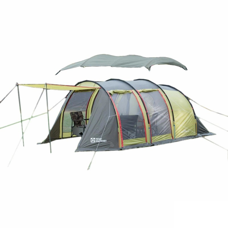 TENT FACTORY(テントファクトリー) トンネル2ルームテント ロング アルミポール シート付き+トップルーフ トンネルテントロング用 アルミポール TF-4STU2A-NL