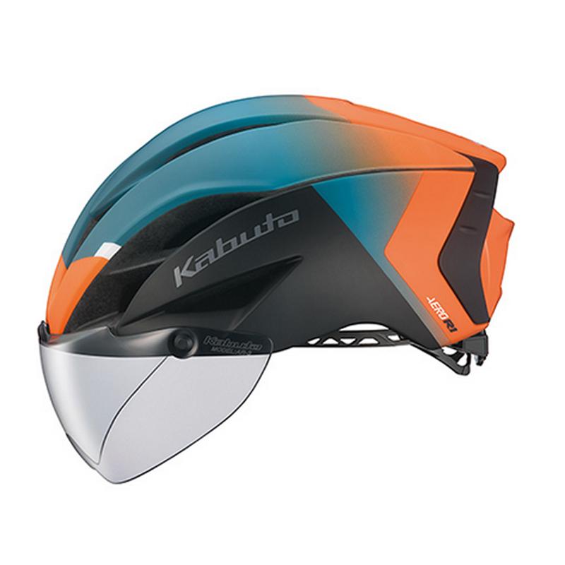 OGK(オージーケー) ヘルメット AERO-R1-TR トライアスロン L/XL G-2マットオレンジグリーン 20601123