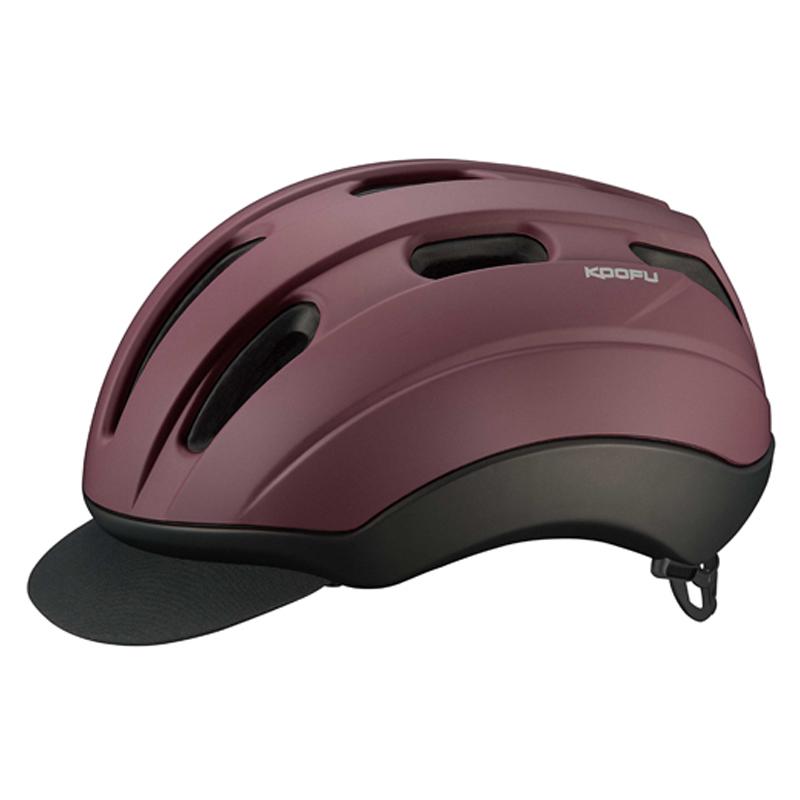 OGK(オージーケー) ヘルメット BC-Via (BC・ヴィア) M/L マットダークレッド 20655000