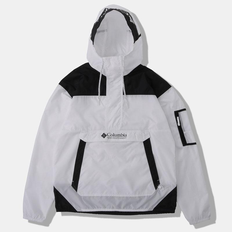 Columbia(コロンビア) CHALLENGER WINDBREAKER(チャレンジャーウィンドブレー) Men's L 101(白い 黒) KE2005