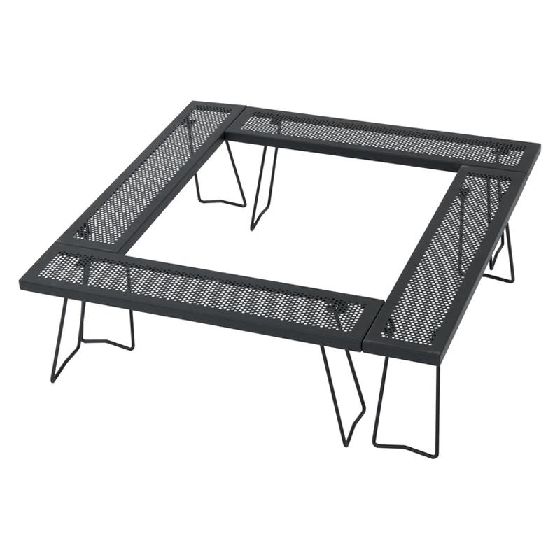 アウトドアテーブル 無料サンプルOK TENT FACTORY テントファクトリー スチールワークス フリー4セット M 登場大人気アイテム BK 880 TF-WLSW-F4M
