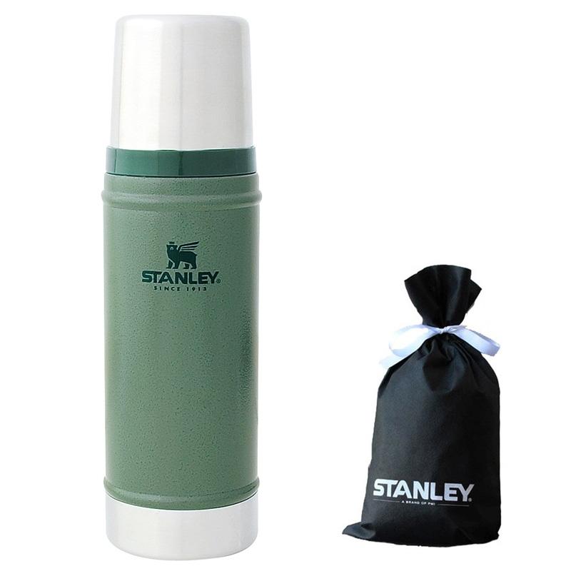 STANLEY(スタンレー) クラシック真空ボトル0.47L GN+STANLEY ギフトバッグ(Mサイズ)【プレゼント特別企画】 0.47L グリーン 01228-075