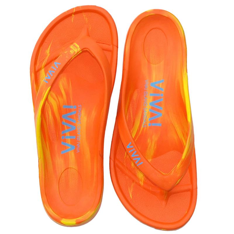 ビバアイランド(VIVA! ISLAND) VIVA ISLAND FLIP FLOP 38 Orange/Yellow V-810107