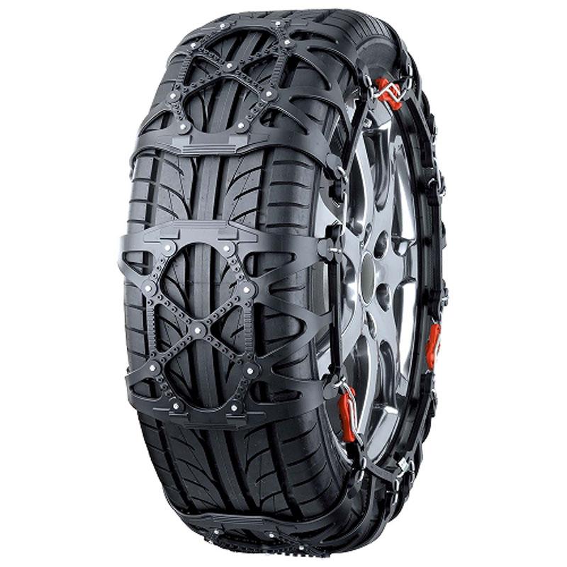 カーメイト(CAR MATE) 簡単取付 非金属 タイヤチェーン バイアスロン クイックイージー (QUICK EASY) QE11L ブラック QE11L