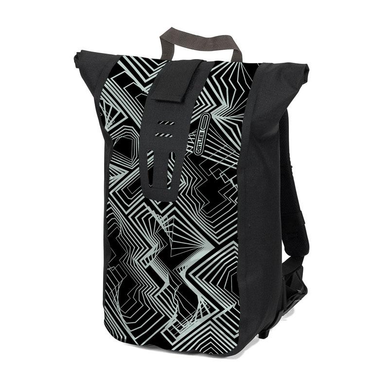 ORTLIEB(オルトリーブ) ヴェロシティ デザイン(カレイドスコープ) 50×30×16cm ブラック×アイスホワイト OR-R4091