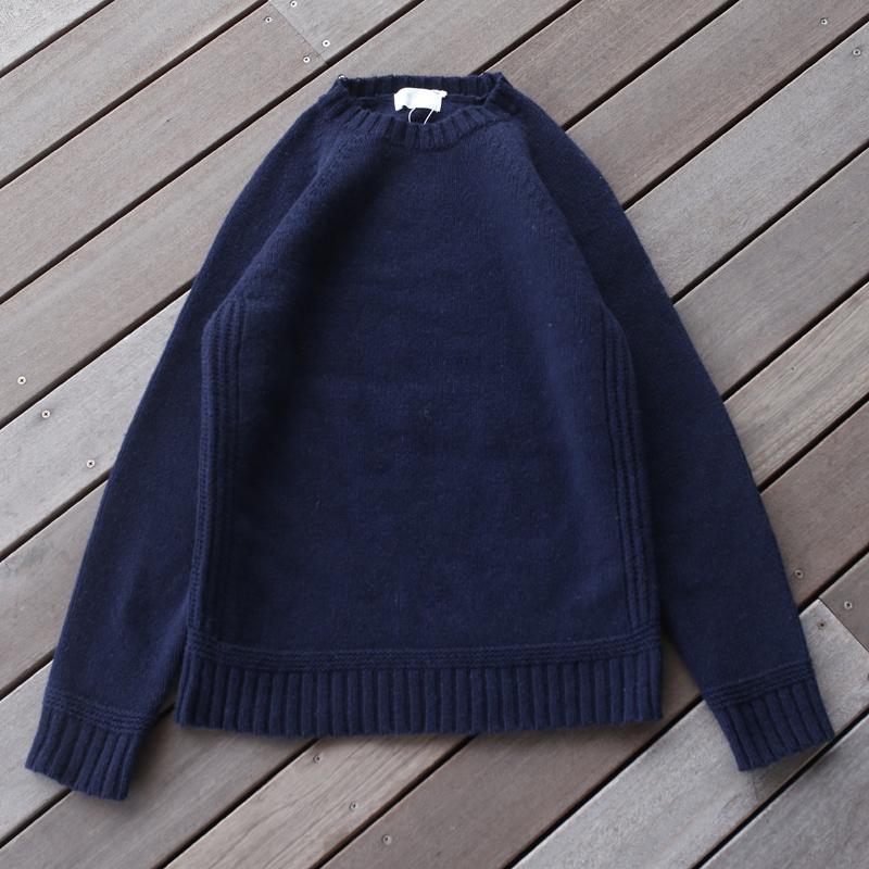 アウトドアシャツ 男女兼用 4年保証 メンズ soglia ソリア LANDNOAH M sog001 Sweater Navy