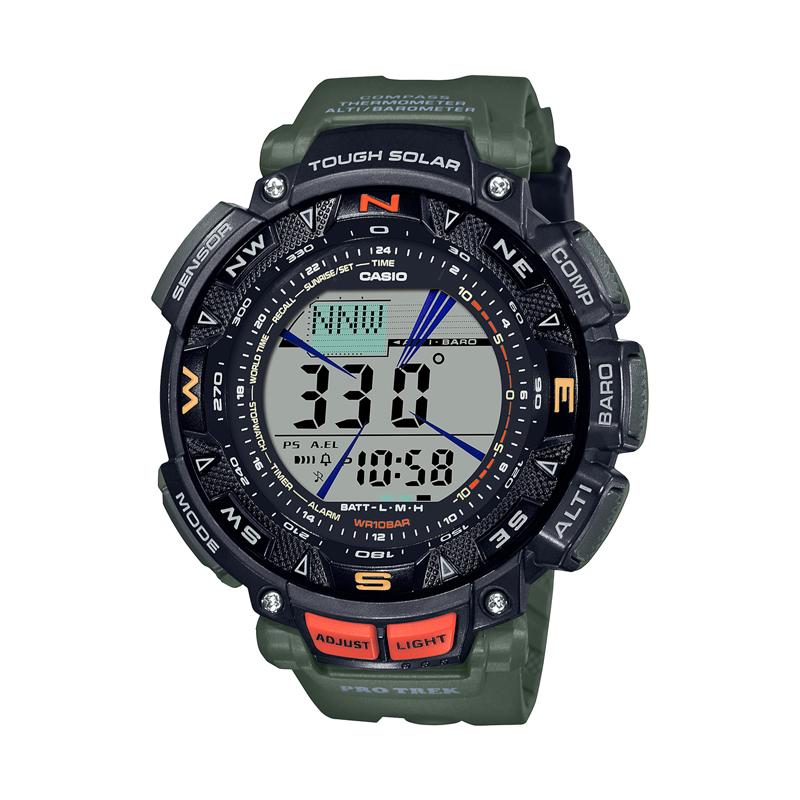 日本最大級の品揃え アウトドアウォッチ 時計 PROTREK レビューを書けば送料当店負担 プロトレック カーキ PRG-240-3JF 国内正規品
