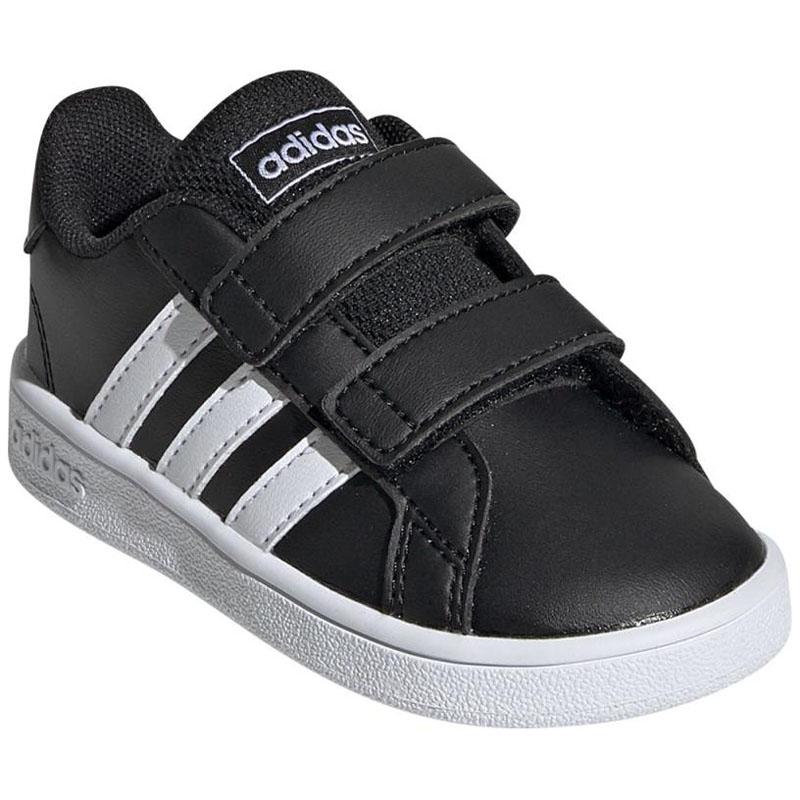 [テニスシューズ] adidas(アディダス) GRANDCOURT I 14.0cm コアブラック×フットウェアホワイト×フットウェアW ADJ-EF0117-140