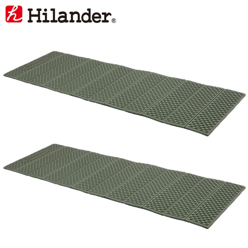 アウトドアマット Hilander ハイランダー XPE カーキ お得な2点セット 折りたたみレジャーマット 別倉庫からの配送 HCA0264 お気に入り