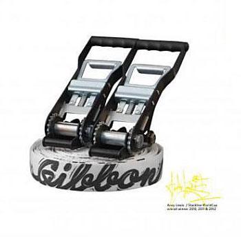 【送料無料】GIBBON(ギボン) ANDY LEWIS TRICKLINE 25m ホワイト A011403