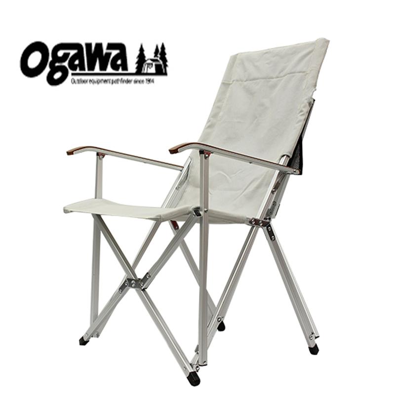 【送料無料】ogawa(小川キャンパル) ハイバックチェア コットン (33)ナチュラル 1908