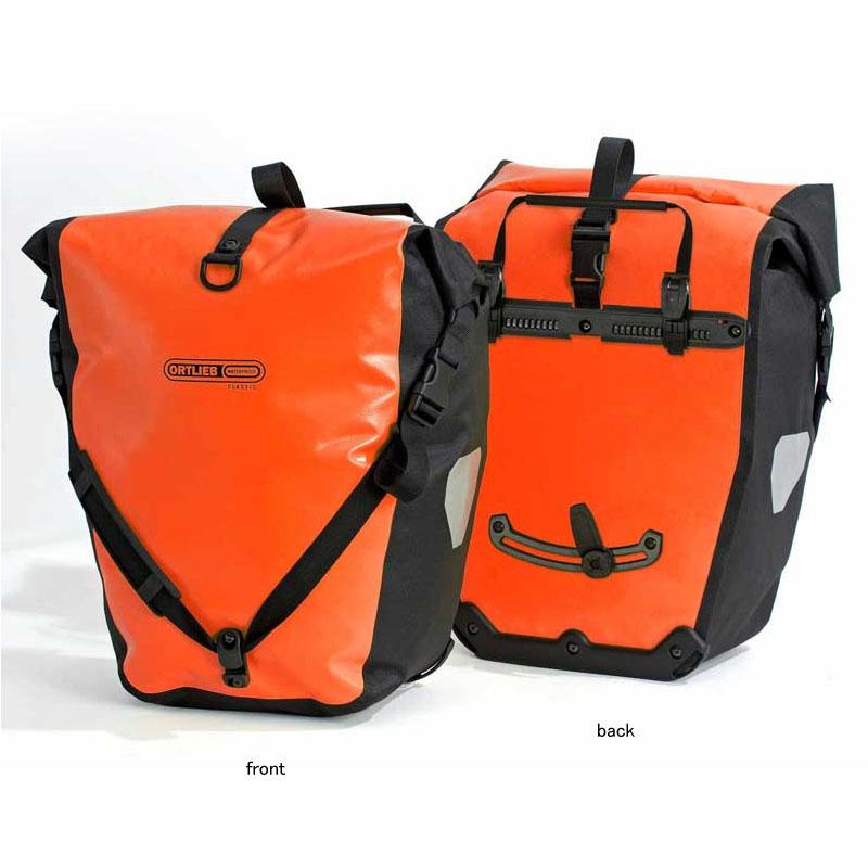 【送料無料】ORTLIEB(オルトリーブ) バックローラークラッシック(ペア) 防水IP64 40L(ペア) オレンジ×ブラック F5306